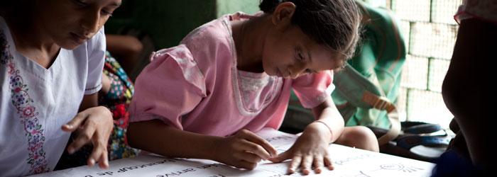 Schule für arme Kinder in Kalkutta