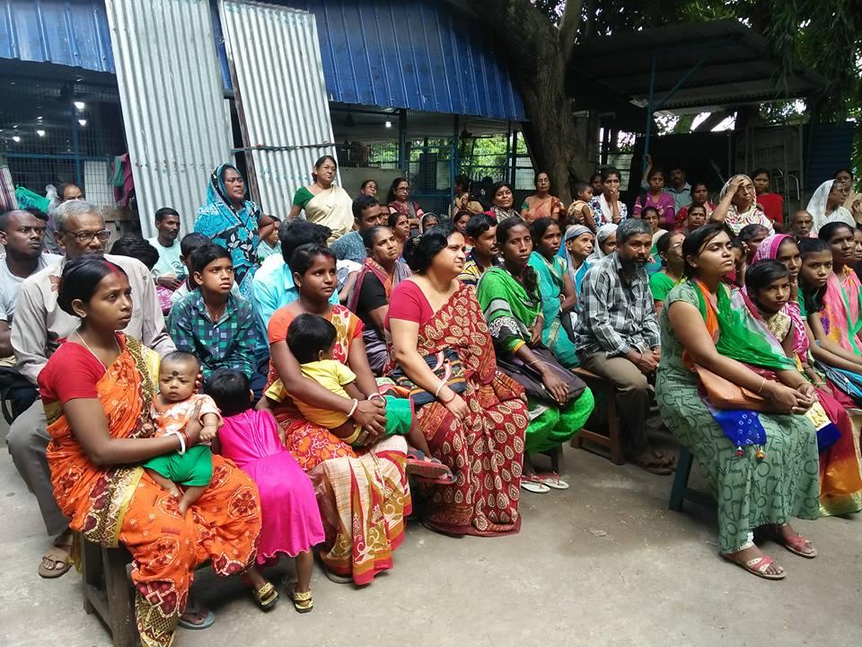 Talapark Patienten bei dem Swayam GBV-Präventionprogram.