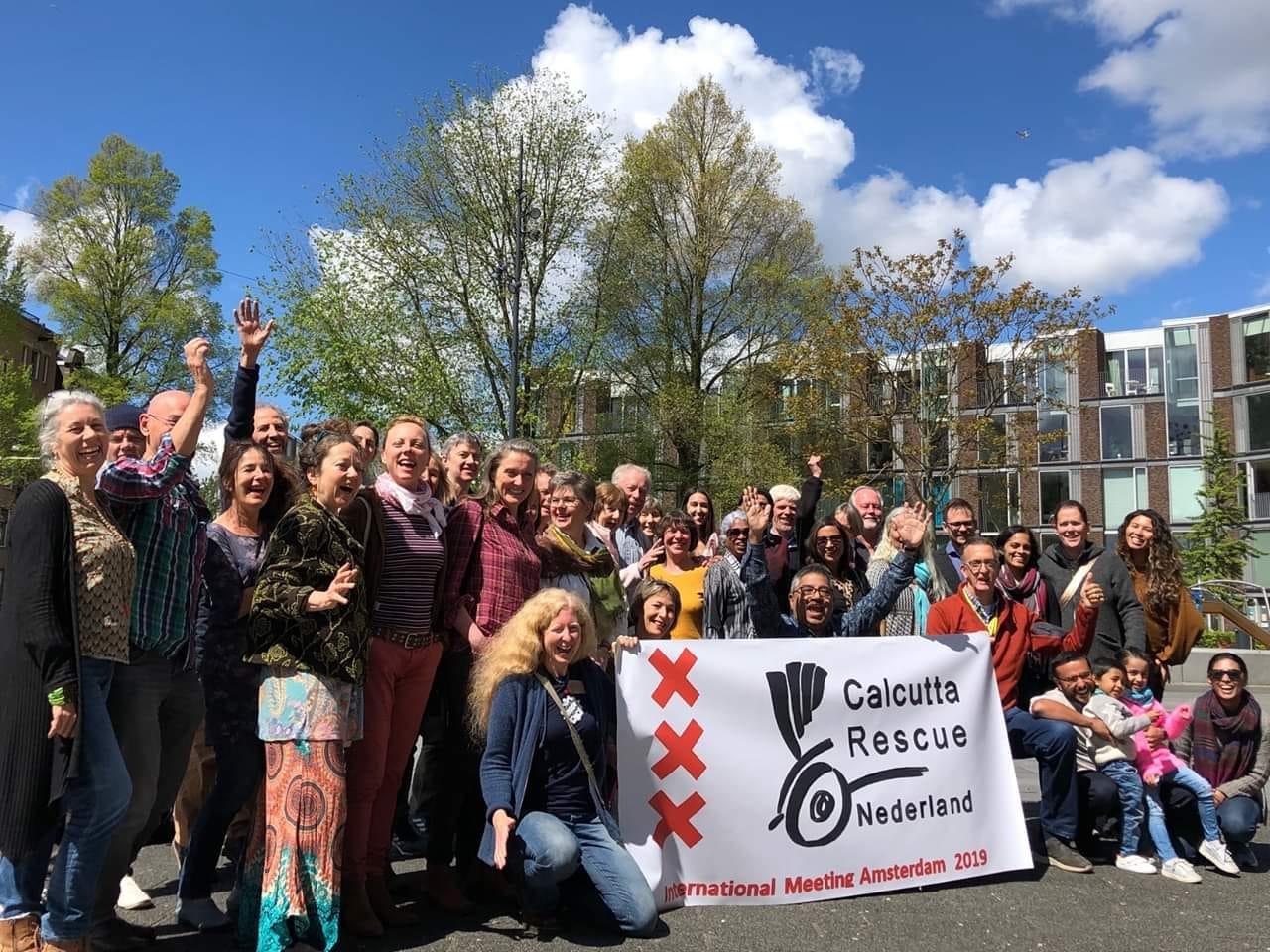 Ein Gruppenfoto mit den Support Groups am International Meeting in Amsterdam.