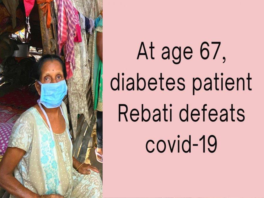 Mit 67 Jahren besiegt Diabetes-Patientin Rebati Covid-19