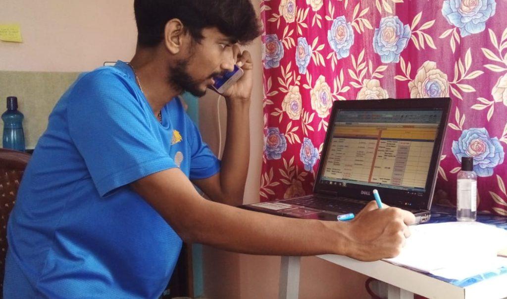 Subhajit, Mitglied des Quick Response Teams.